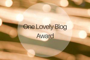 One Lovely Blog Award - michalah francis