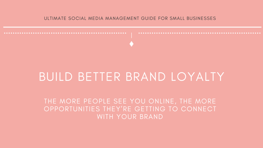 Michalah Francis Ultimate social media management guide for small businesses build brand loyalty on social media