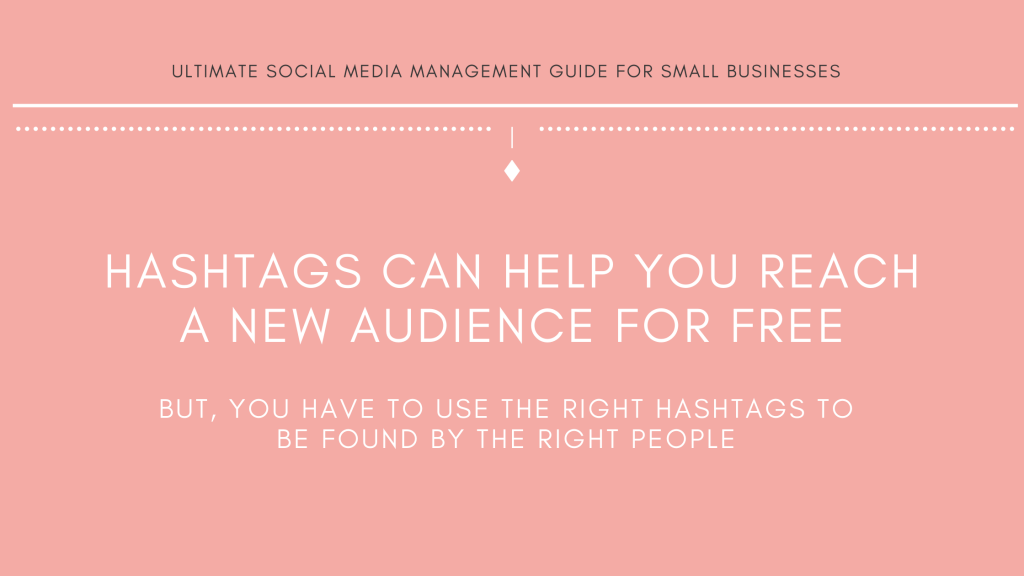 Michalah Francis Ultimate social media management guide for small businesses instagram hashtags guide how to