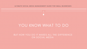 Michalah Francis Ultimate social media management guide for small businesses social media brand strategy