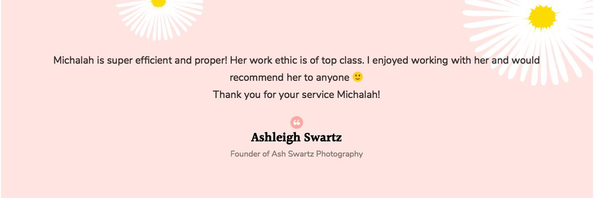 Michalah Francis social media manager review